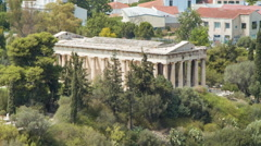 Temple of Hephaestus in Athens Greece Stock Footage