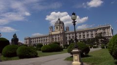 Museum of Art History Or Museum of Fine Arts in Vienna Stock Footage
