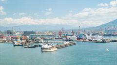 Industrial Porto di Napoli in Naples Italy Stock Footage