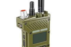 Military radio display, close view Stock Illustration