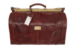 Travel bag retro, top view Stock Illustration