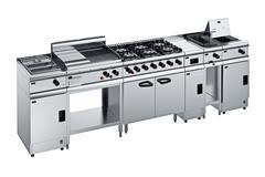 Kitchen equipment steel Stock Illustration