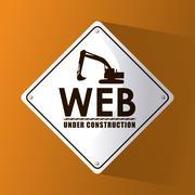 Under construction and repair design Stock Illustration