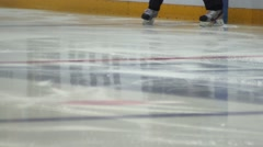 Ice hockey referee warm-up Stock Footage