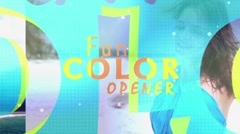 Fun Colors Opener - After Effects Template Stock After Effects