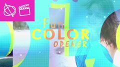 Fun Colors Opener - Apple Motion and Final Cut Pro X Template Stock After Effects