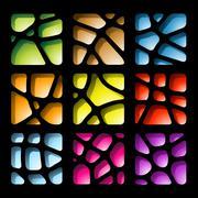 Colorful Paper Cutouts Stock Illustration
