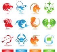 Zodiacs Elements Stock Illustration