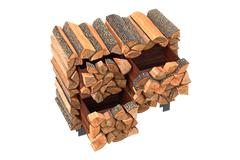 Wood cabinet logs Stock Illustration