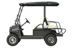 Golf car electric, side view Stock Illustration