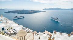 Santorini Greece Scenic View Stock Footage
