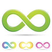 Sleek infinity symbols Stock Illustration
