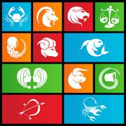 Metro style zodiac star signs Stock Illustration