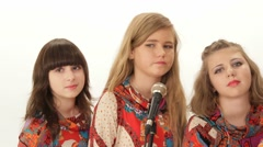 Chorus group of girls on vocals Stock Footage