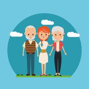 Family relationship avatar and generation design Stock Illustration