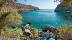 Anthony Quinn Bay in Rhodes Greece Stock Footage