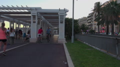 Promenade des Anglais in Nice Stock Footage