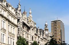Beautiful street view of  Old town in Antwerp, Belgium Stock Photos