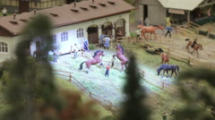 Hippodrome outside the city Stock Footage
