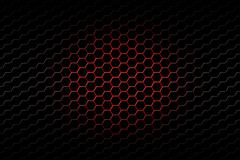 Red and black metallic mesh background texture Stock Illustration