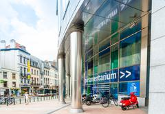 BRUSSELS, BELGIUM - June 16, 2016 : Exterior of the building of the European  Stock Photos