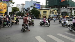 Traffic in Hanoi Hoan Kiem district (old quarter) Stock Footage