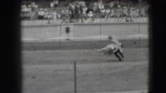 1941: ol time calf roping CALIFORNIA Stock Footage