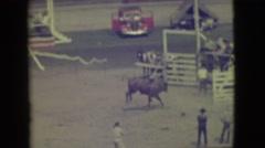 1941: a bull man is seen on a wild bull CALIFORNIA Stock Footage
