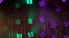 Working lighting stage equipment Stock Footage