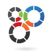 Abstract cog logo icon Stock Illustration