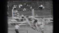 1941: a dangerous bull ride is seen CALIFORNIA Stock Footage