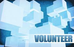Volunteer on Futuristic Abstract Stock Illustration