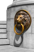 Golden and Bronze Lion Medalion Stock Photos