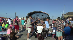Crowd of People at an Outdoor Pop Concert Stock Footage