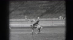 1941: man riding horse in arena CALIFORNIA Stock Footage