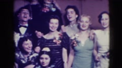 1941: the large group of performers prepare for the show NEW YORK Stock Footage