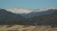 A map of the Ojai Valley sits at the top of a mountain. Stock Footage