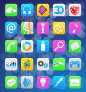 Ios 7 style mobile app icons Piirros