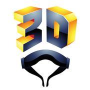 3d Display Technology Symbol Stock Illustration