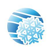 Winter Season Icon Stock Illustration