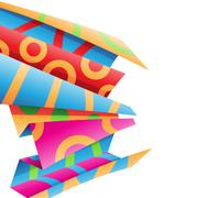 Colorful Folded Wrapping Paper Stock Illustration Stock Illustration