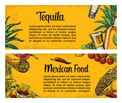 Mexican traditional food restaurant menu template with spicy dish Stock Illustration