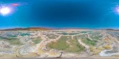 Dead Sea salt 360 vr Stock Footage