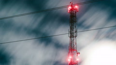Communication antenna tower Stock Footage