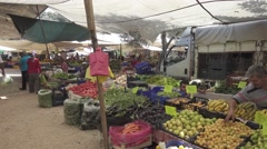 Turkish local market products and sellers s-log Stock Footage