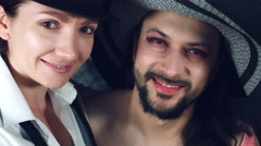 4k LGBT Shot of Transvestite Couple Smiling Happy Stock Footage
