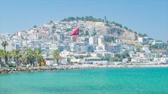 Turkish Resort Destination of Kusadasi Turkey Stock Footage