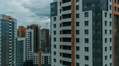 Multi-storey residential buildings close-up timelapse Stock Footage