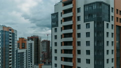 Multi-storey residential buildings Stock Footage