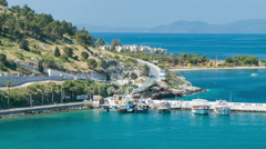 Kusadasi Turkey Turkish Coastal Road Against Aegean Sea Stock Footage